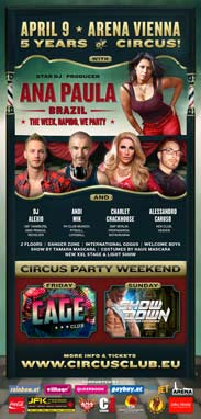 Circus Club Vienna 13 - Wonderland! - with DJ Ana Paula, DJ Alexio, Charlet Crackhouse, Andi Mik & Alessandro Caruso Party Flyer
