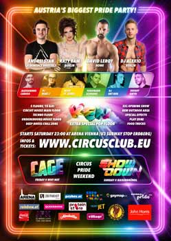 Circus Club Vienna 19 - Colors! The Official Pride Night Party Flyer