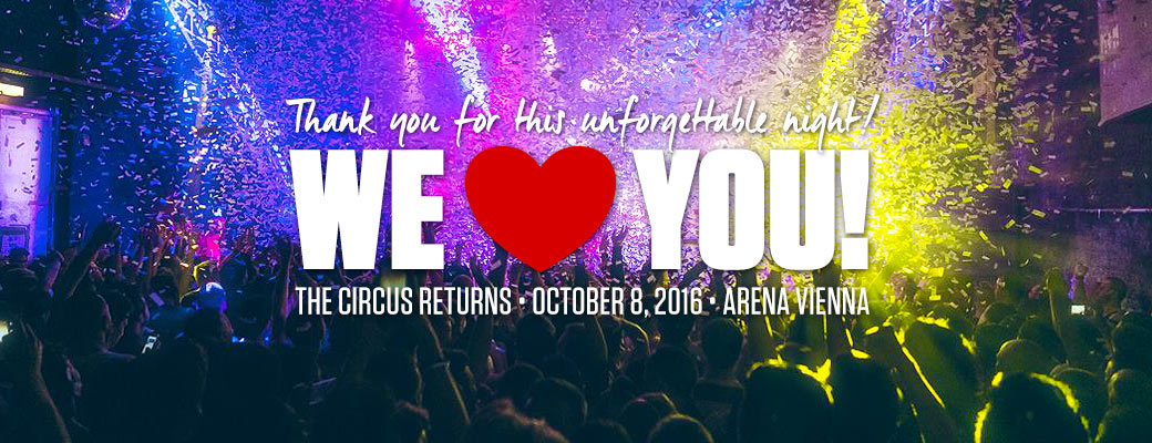 Thank you for this amazing night! The Circus loves you! The Circus returns October 10, 2015. Save the date!